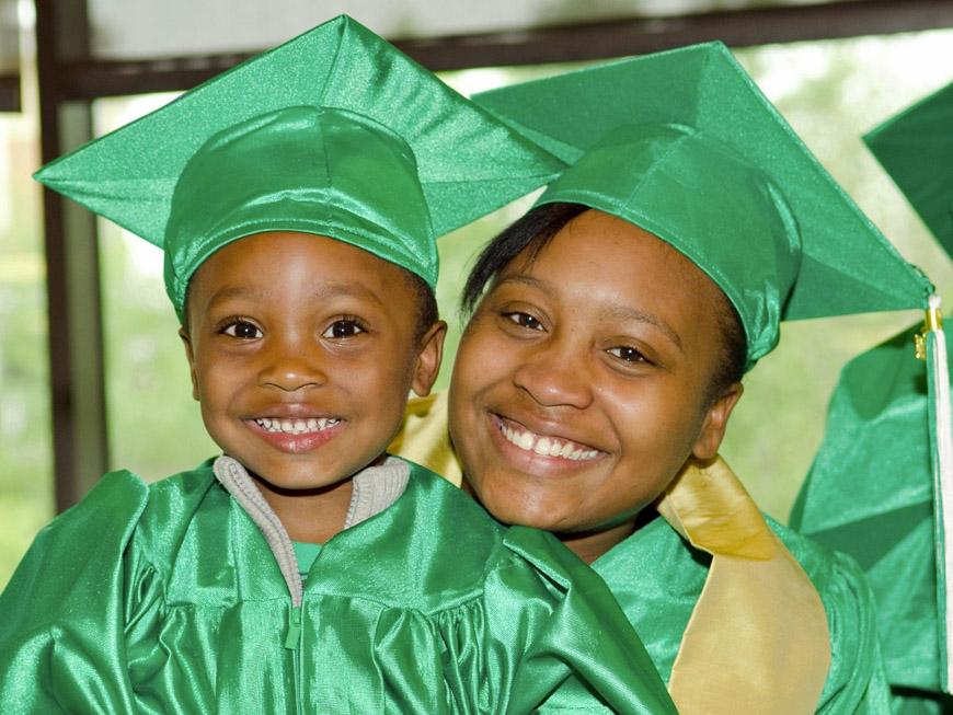 Mother and child graduation | W.K. Kellogg Foundation
