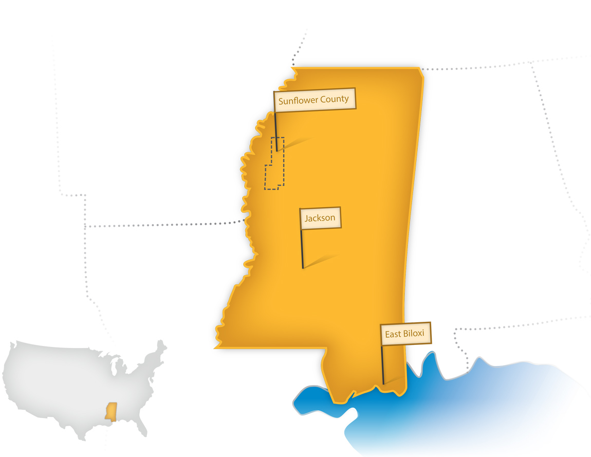 Where We Work in Mississippi - W.K. Kellogg Foundation